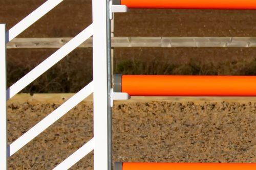 Orange and White Plastic Show Jump Poles