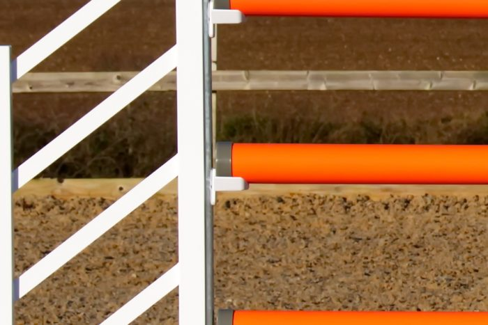 Orange and White Plastic Show Jump Poles