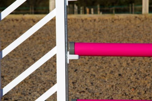 Pink and White Plastic Show Jump Poles