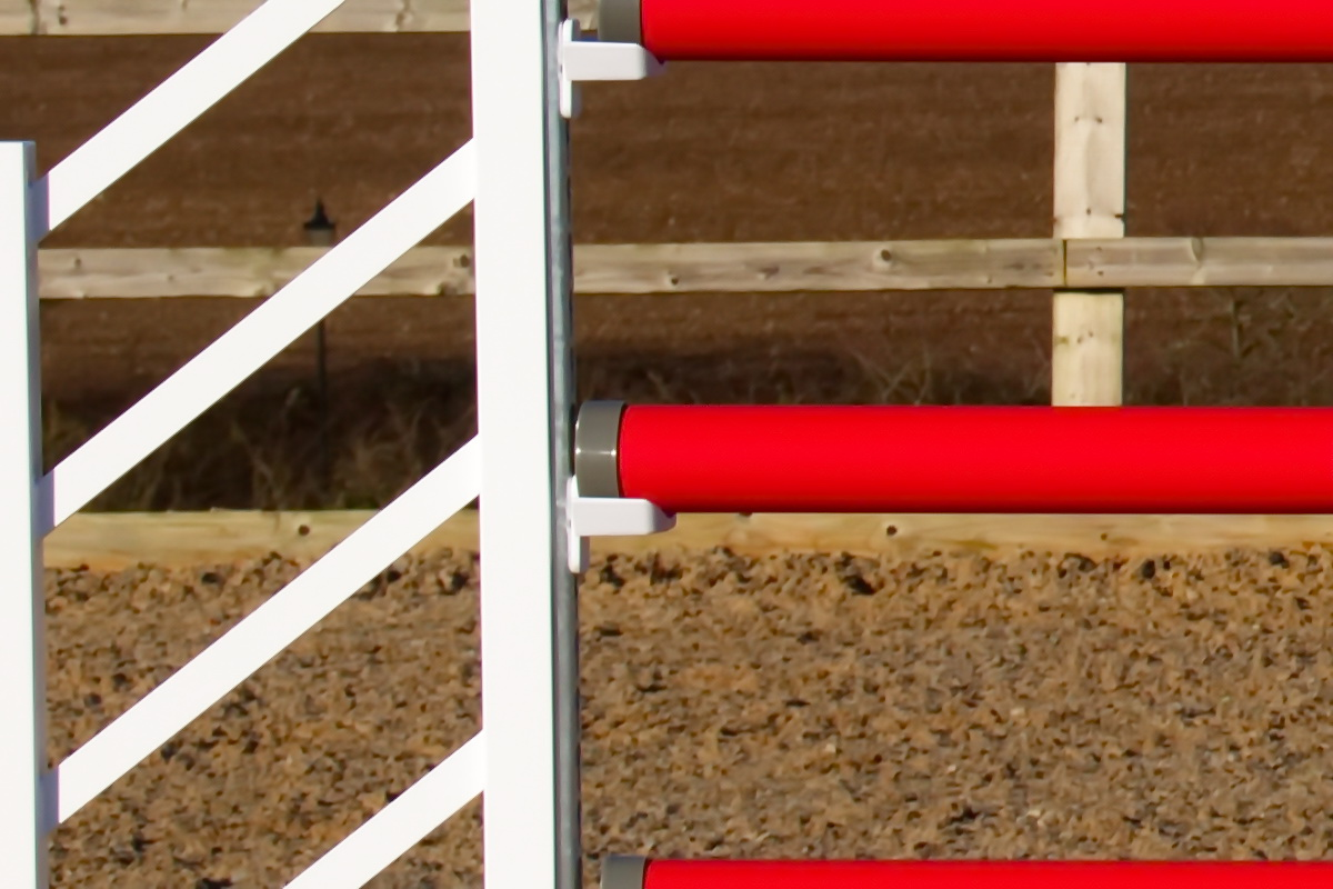 Red & White Plastic Show Jump Poles