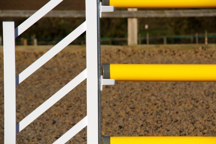 Yellow & White Plastic Show Jump Poles