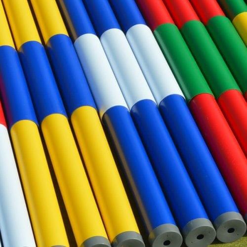 Two Colour Plastic Jump Poles