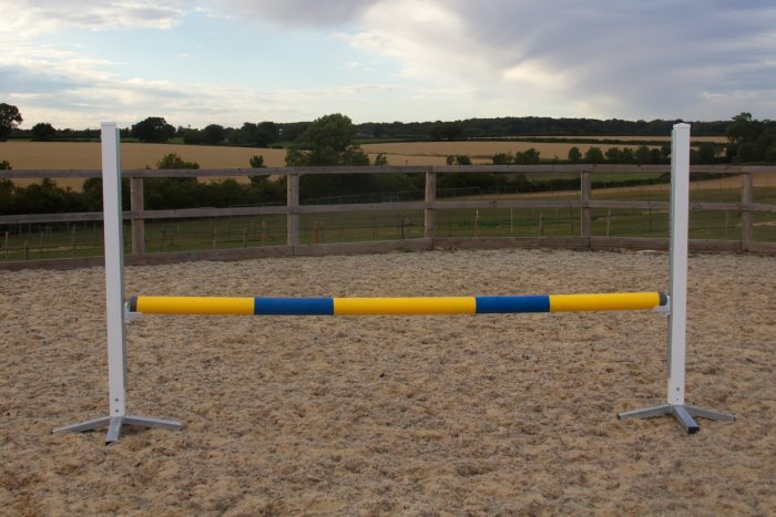 Blue & Yellow Plastic Show Jump Poles