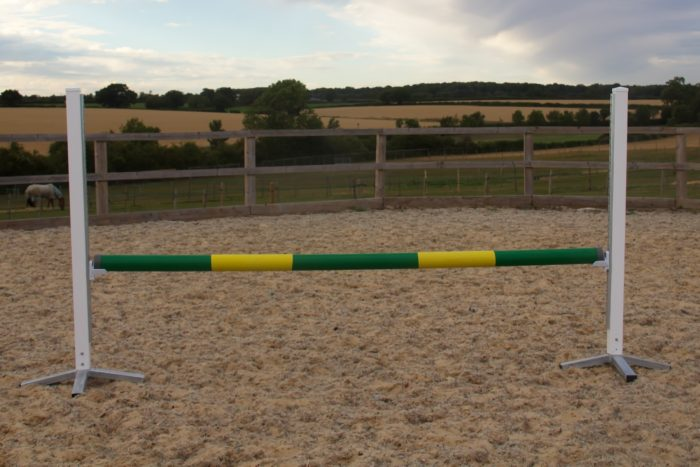 Green & Yellow Plastic Show Jump Pole