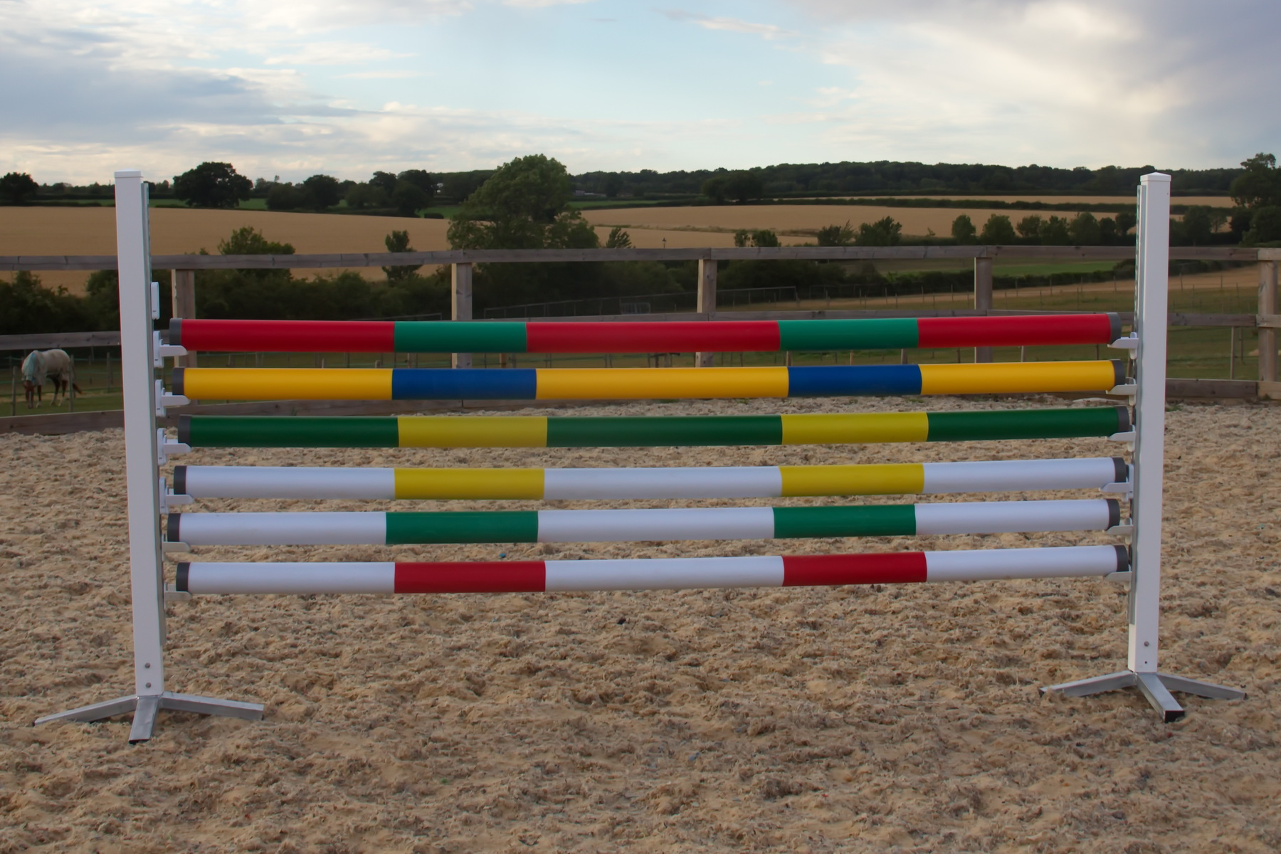 Plastic Show Jump Poles Mixed Colours