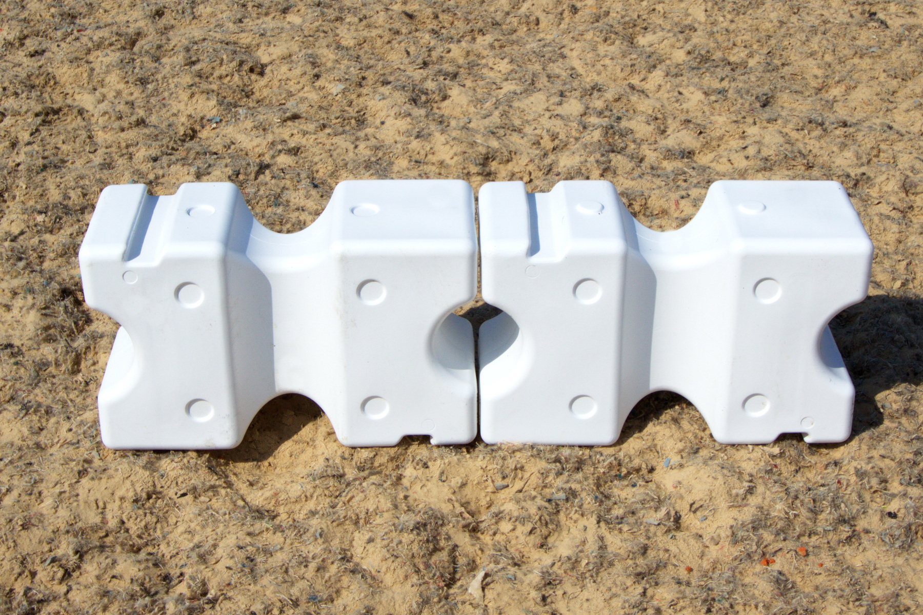 White Cavaletti Blocks