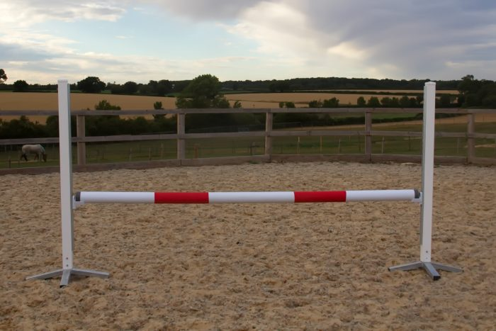White & Red Plastic Show Jump Poles