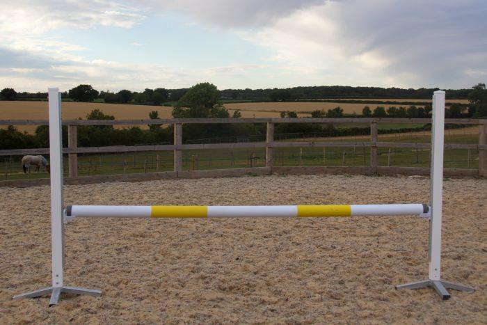 White & Yellow Plastic Show Jump Poles