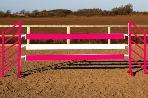 Pink show jump Planks