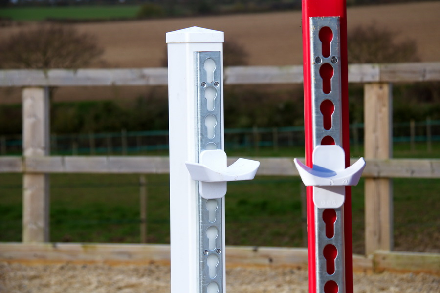 White & Red Jump Stands