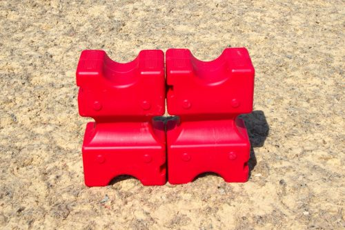 Red Standing Cavaletti Blocks